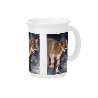 Brown Swiss Calf Pitcher