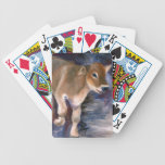 Brown Swiss Calf Playing Cards Bicycle Playing Cards