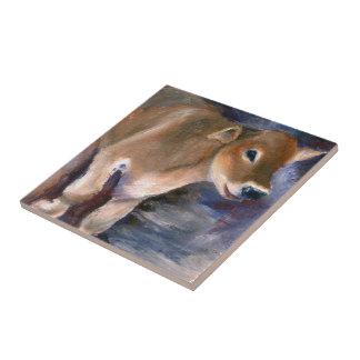 Brown Swiss Calf Tile