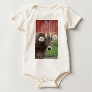 Brown Swiss Cow Baby Bodysuit