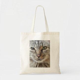 Brown Tabby Cat Budget Tote Bag