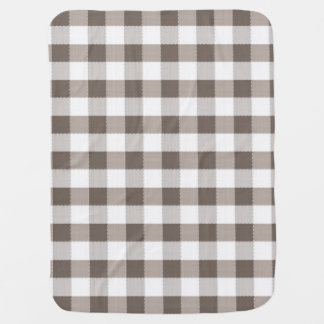 Brown Table Cloth Pattern Baby Blanket