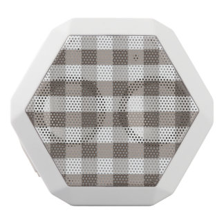 Brown Table Cloth Pattern White Boombot Rex Bluetooth Speaker
