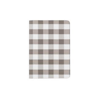 Brown Table Cloth Pattern Passport Holder