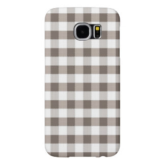 Brown Table Cloth Pattern Samsung Galaxy S6 Cases