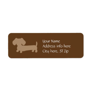 Brown & Tan Dachshund Address Labels