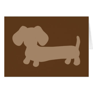 Brown Tan Dachshunds Masculine Note Card