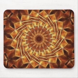 Brown Tan Gold Kaleidoscope Art 1 Mouse Mat
