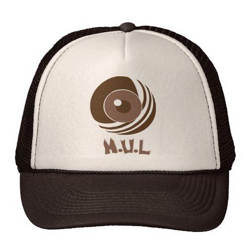 Brown & tan MulWear Logo Cap Trucker Hat