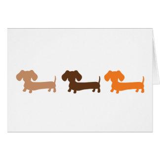 Brown Tan & Orange Dachshunds Masculine Greeting Card