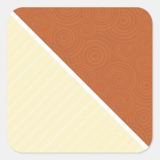 Brown Tan Square Sticker