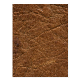 Brown Tanned Leather Texture Background Postcard