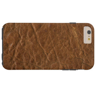 Brown Tanned Leather Texture Background Tough iPhone 6 Plus Case