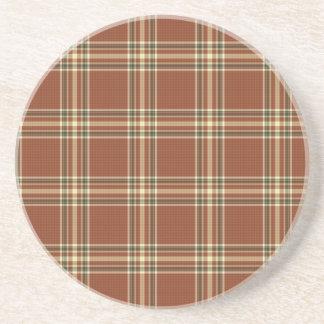 Brown Tartan Coaster