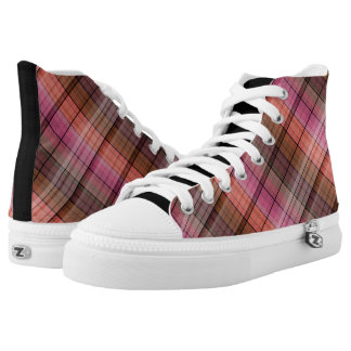 Brown tartan high tops