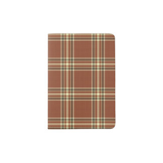 Brown Tartan  Passport Holder
