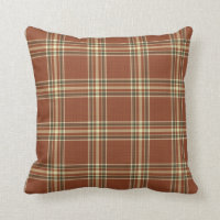 Brown Tartan Pillow