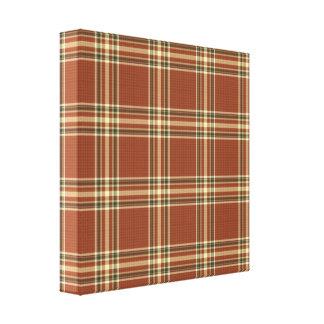 Brown Tartan Wrapped Canvas