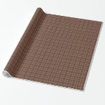 brown tartan wrapping paper