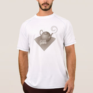 Brown teapot with teabags t-shirt