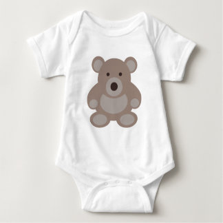 Brown Teddy Bear Baby Bodysuit