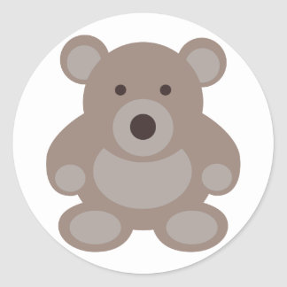 Brown Teddy Bear Classic Round Sticker