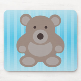 Brown Teddy Bear Mouse Mat