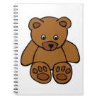 Brown Teddy Bear Notebook