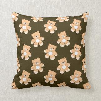 Brown Teddy Bear Pattern Cushion