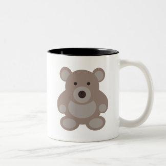 Brown Teddy Bear Two-Tone Mug