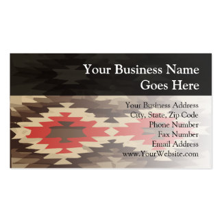 Brown/Terra Cotta Navajo Pattern Business Card Templates
