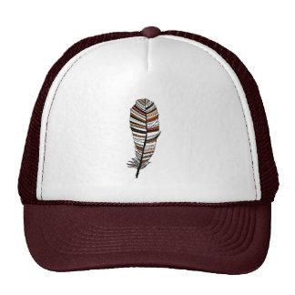 Brown/terracotta Aztec Feather Mesh Hats