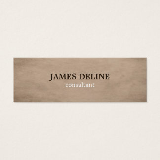 Brown Textured Consultant Business Card