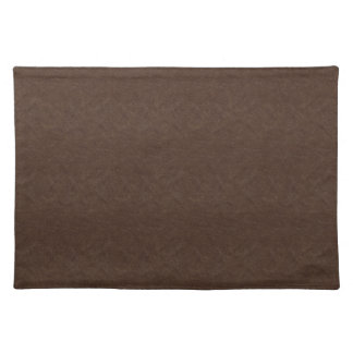 Brown Textured Leather Placemats