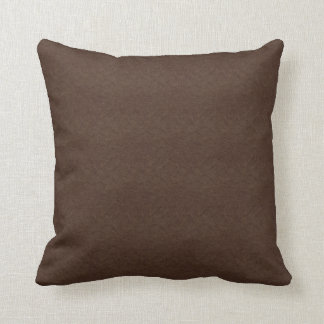 Brown Textured Leather Throw Pillow