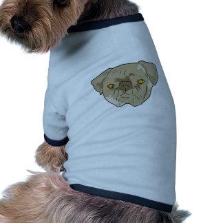 Brown textured pug cutout doggie t shirt