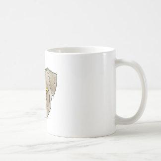 Brown textured pug mug
