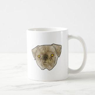 Brown textured pug mugs