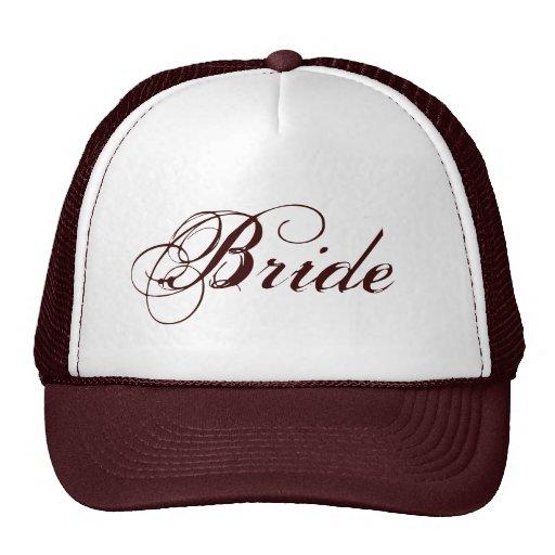Brown theme natural Bride hat