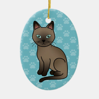 Brown Tonkinese Cat Christmas Ornament