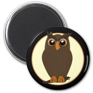 Brown Toon Owl Magnet