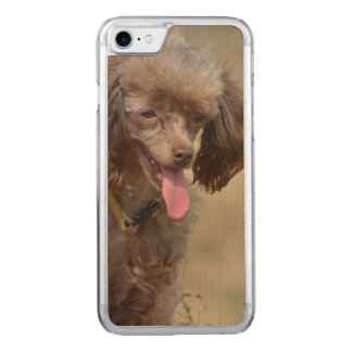 Brown Toy Poodle Carved iPhone 8/7 Case