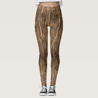 Brown Tree Bark Leggings