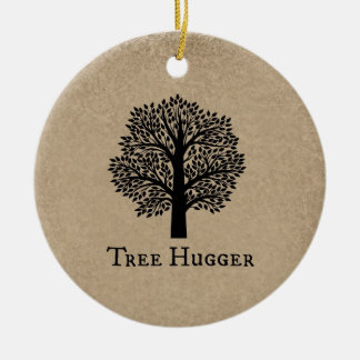 Brown Tree Hugger Christmas Ornament