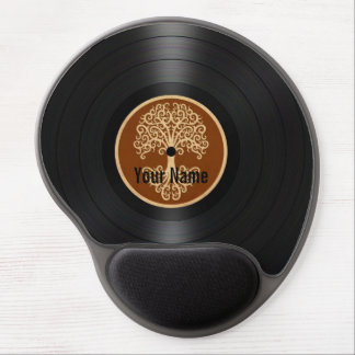 Brown Tree of Life Personalized Vinyl Record Gel Mouse Pad