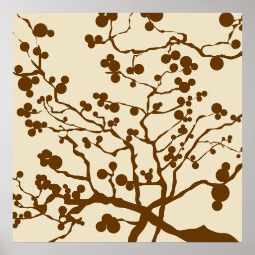 brown tree print