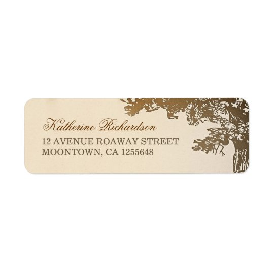 brown tree return address labels