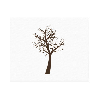 brown tree simple design eco.png stretched canvas prints
