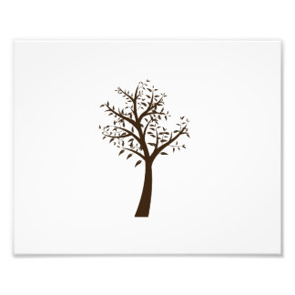 brown tree simple design eco.png photo print