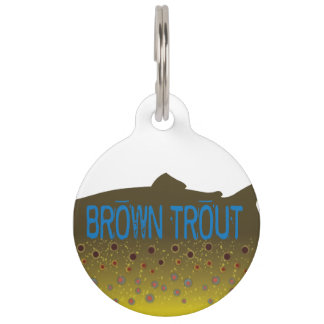 Brown Trout Dog Tag